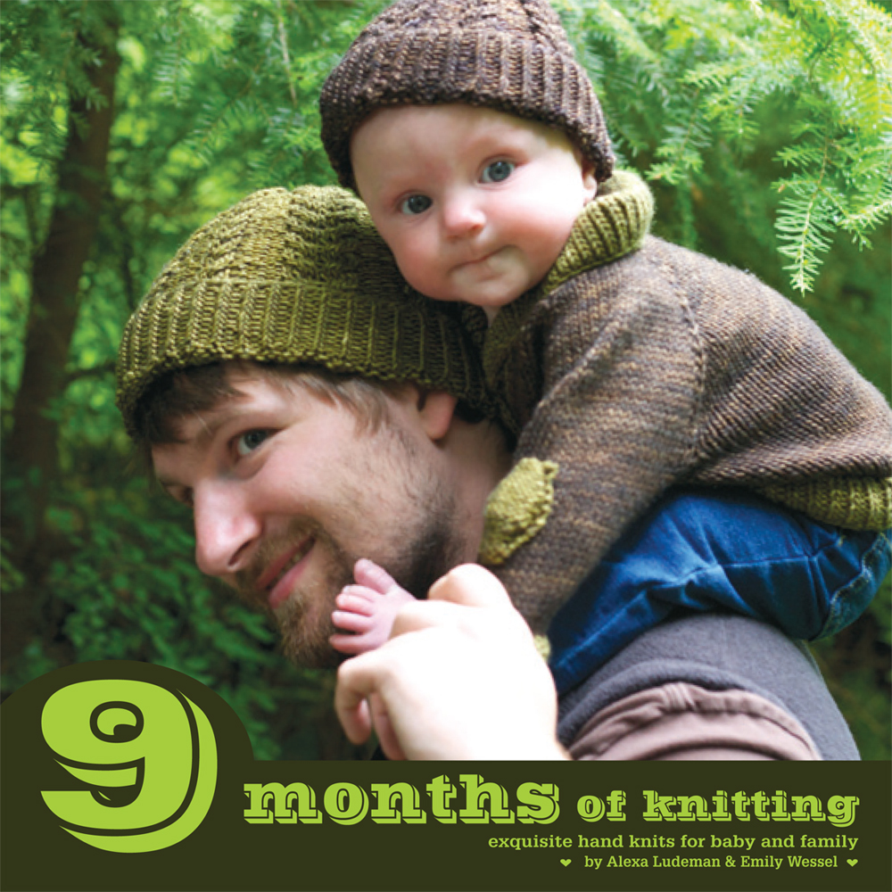 9 Months of Knitting Front Cover