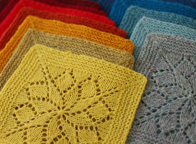 Knitting Patterns Squares : Vivid Blanket by Emily Wessel