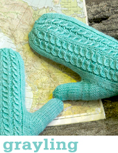 Grayling Mittens by Tin Can Knits