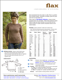 flax pullover pattern