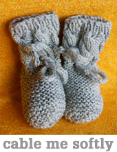 Cable Me Softly Booties by Tin Can Knits