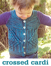 crossed cardigan
