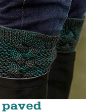 Paved Boot Toppers by Tin Can Knits