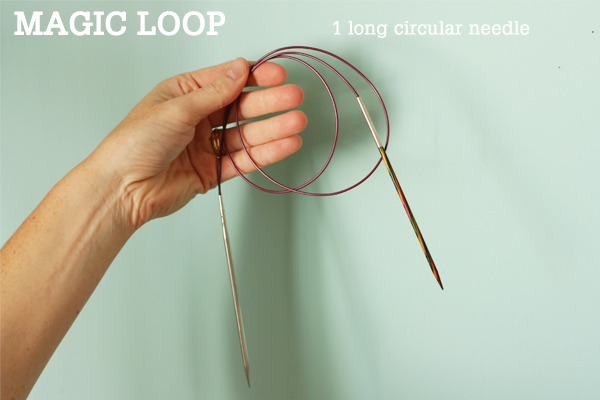 Double Knitting In The Round Tutorial : Magic loop technique how to knit in the round using a